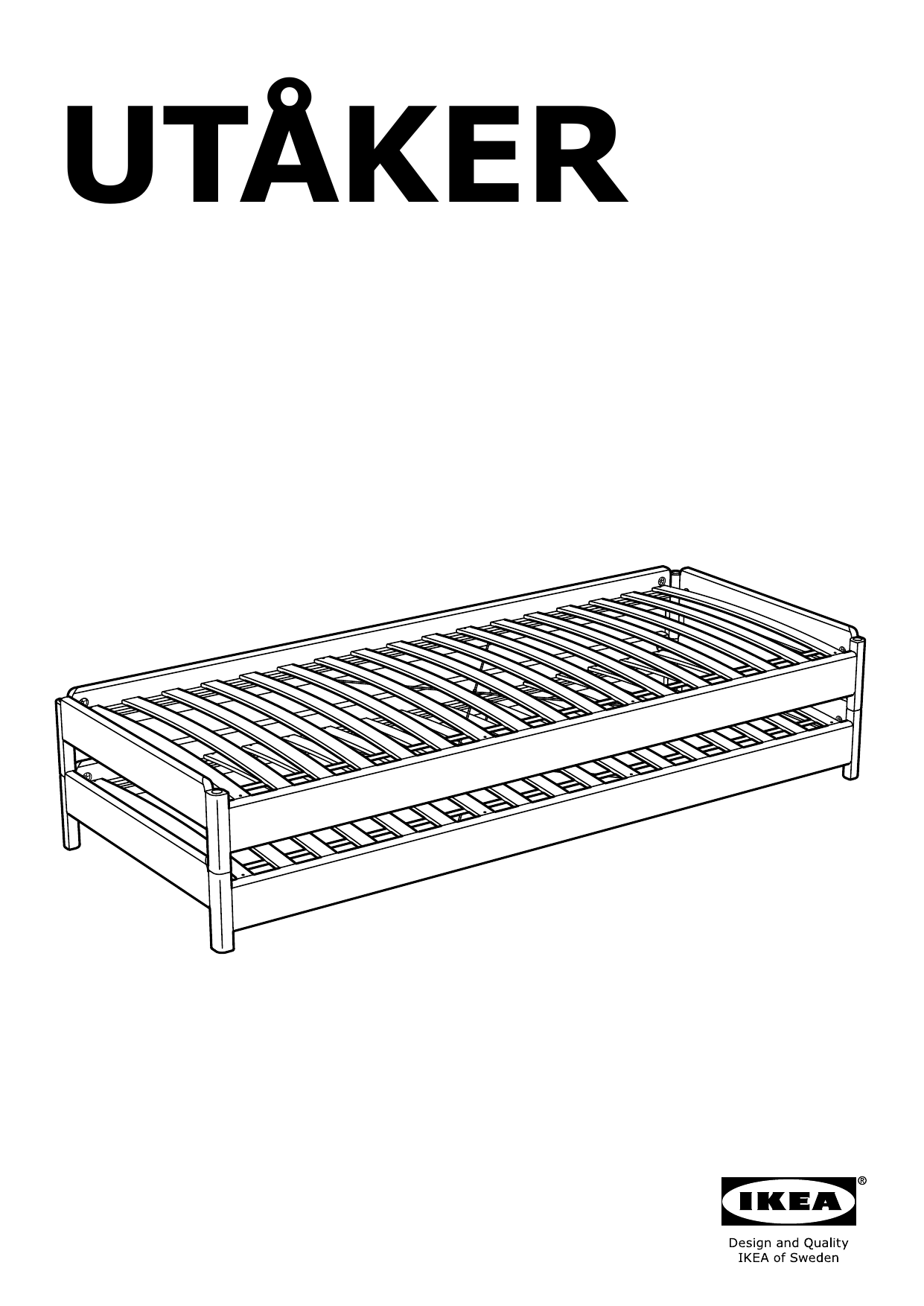 IKEA UTÅKER Stackable bed Assembly Instruction