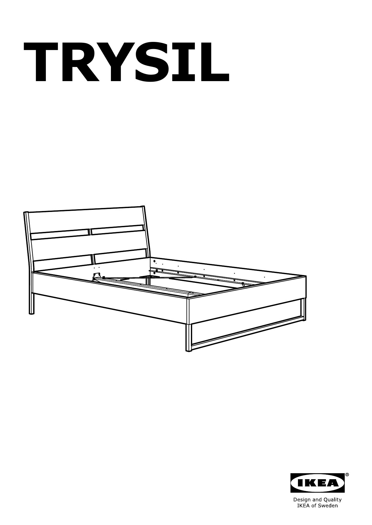 IKEA TRYSIL bed frame Assembly Instruction