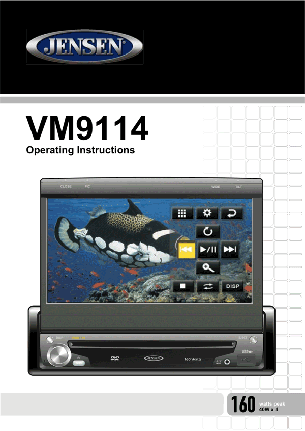 jensen vm9114 user s manual free pdf download 45 pages rh manualagent com jensen radio manual jensen radio manuals user's manual