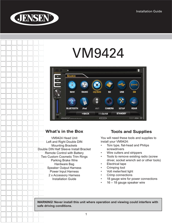 jensen vm9424 owner s manual page 57 free pdf download 120 pages rh manualagent com