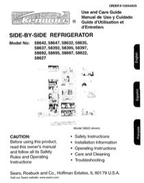 Kenmore 596.58397 User's Manual