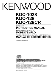 Kenwood KDC-128CR Owner's Manual