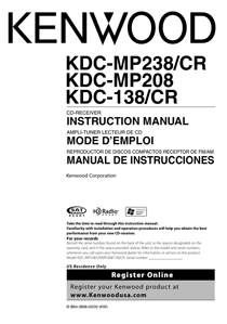 Kenwood KDC-138CR Owner's Manual