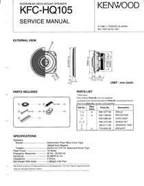Kenwood KFC-HQ105 Owner's Manual