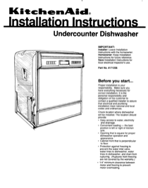 KitchenAid 4171206 User's Manual