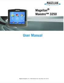 magellan maestro 3250 user s manual free pdf download 82 pages rh manualagent com Magellan Maestro 3250 Battery Magellan Maestro GPS