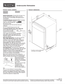Maytag MDB4949SDM Dimension Guide