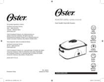 Oster CKSTRS18-BSB - Oster Roaster Oven with Self-Basting Lid, 18-Quart Instruction Manual