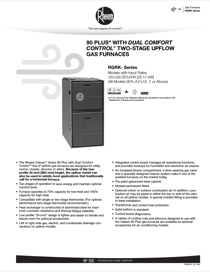 Rheem Classic Series: Up to 95% AFUE 2-Stage PSC Motor Specification Sheet