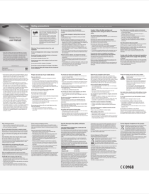 Samsung GT-E1200 User's Manual - Free PDF Download (2 Pages)