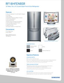 samsung rf18hfenbsr aa product manual free pdf download 35 pages