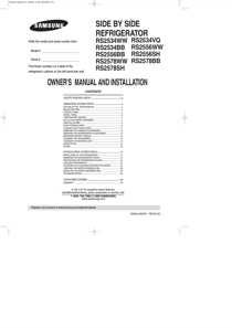 Samsung RS2578WW User's Manual