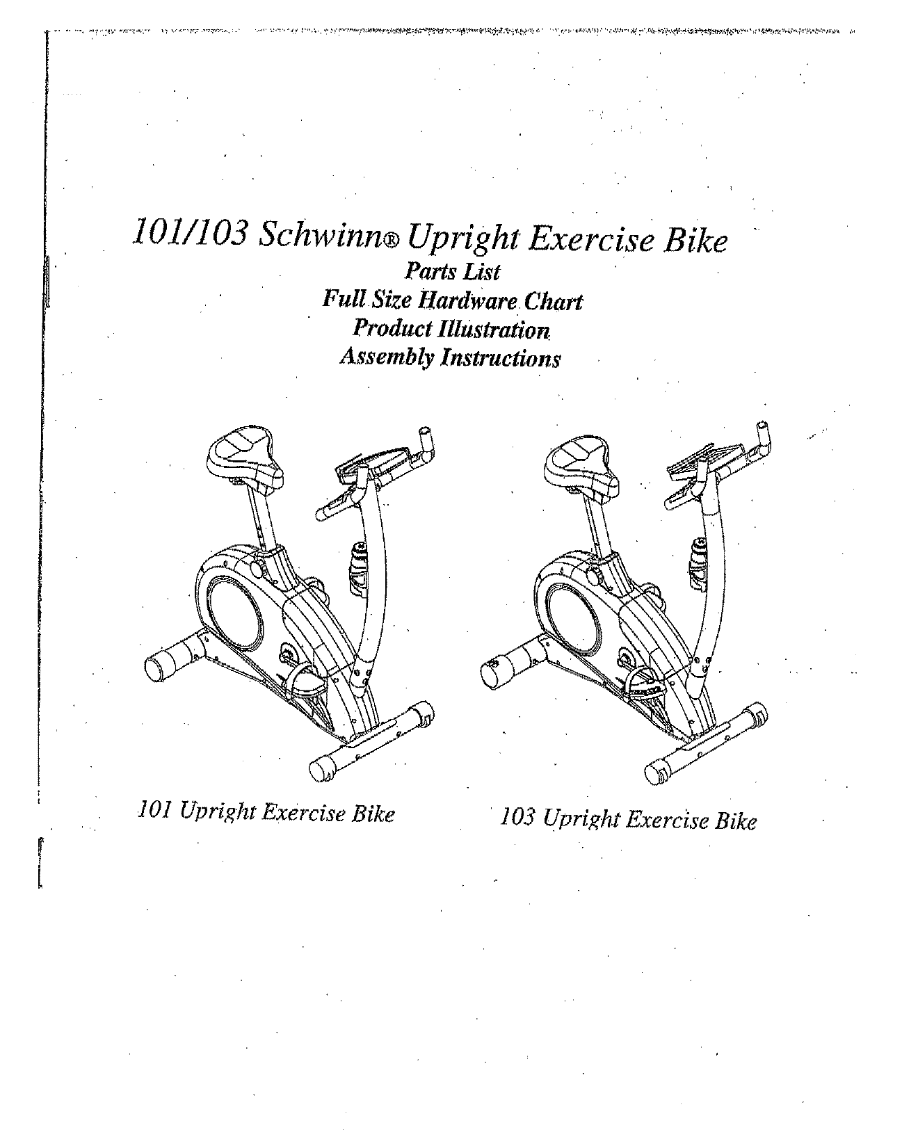 schwinn 103 owner s manual free pdf download 12 pages rh manualagent com Schwinn 12 Function Manual Schwinn Bicycle Manuals