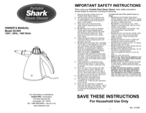 Shark SC505 User's Manual