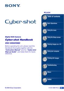Sony DSC-S980/P Handbook
