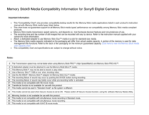 Sony DSC-TF1/B Information Guide