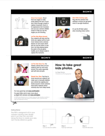 Sony DSC-W330/R How to Use