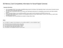 Sony DSC-WX9/B Information Guide