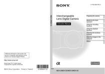 Sony NEX-5K/S Instruction Manual