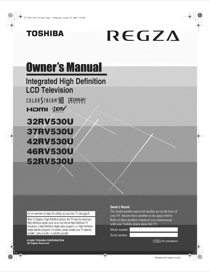 toshiba regza tv instruction manual free owners manual u2022 rh wordworksbysea com Toshiba Laptops Model Manual Toshiba 26C100u1television