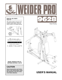 Weider PRO 9628 Owner's Manual
