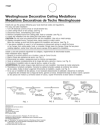 Westinghouse 16 Victorian Molded Plastic Ceiling Medallion 7702800 Instruction Manual