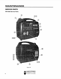 Westinghouse WH1000i Parts Manual