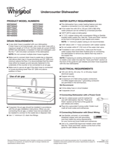 Whirlpool WDF770SAFZ Dimension Guide