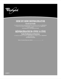 Whirlpool Side by Side Refrigerator ED5SHEXMQ00 User's Manual