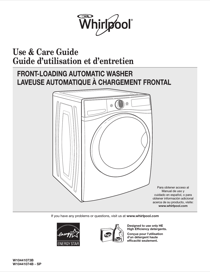 whirlpool wfw70hebw owner s manual free pdf download 48 pages rh manualagent com Whirlpool Cabrio Washing Machine Problems whirlpool user manual washing machine
