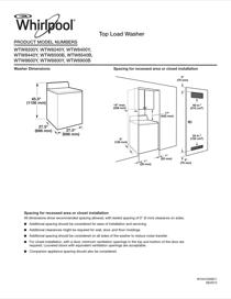 Whirlpool WTW8800YW Dimension Guide