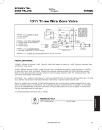 White Rodgers 1311 103 Hydronic Zone Controls Troubleshooting Free Pdf Download 1 Pages