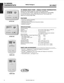 white rodgers 1f78 144 white rodgers 70 series non programmable rh manualagent com White Rodgers 1F78 Owner's Manual White Rodgers 1F78 Owner's Manual
