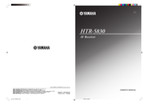 yamaha htr 5830 owner s manual online pdf free download 67 pages rh manualagent com Yamaha HTR- 5650 yamaha htr-5830 service manual