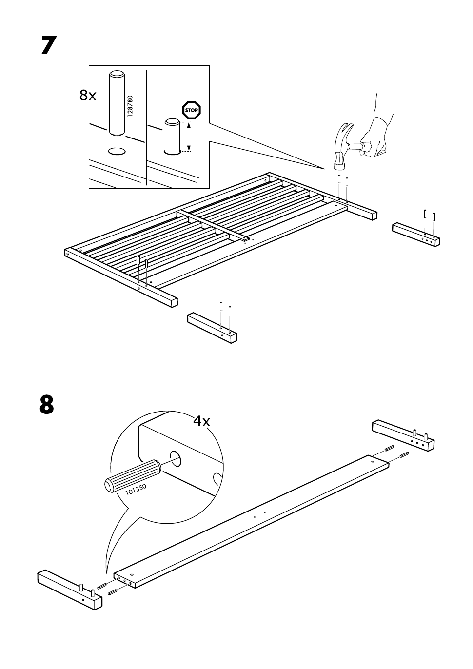Ikea Tarva Bed Frame Assembly Instruction Page 8 Free