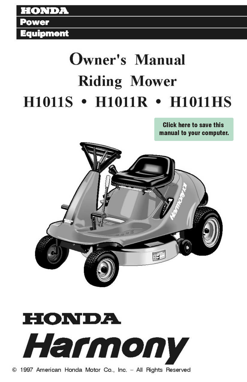 Honda Harmony Riding Mower Manual User Guide Manual That Easy To Rh  Mobiservicemanual Today Hrr2162tda Bag Honda Lawn Mower Parts Lookup