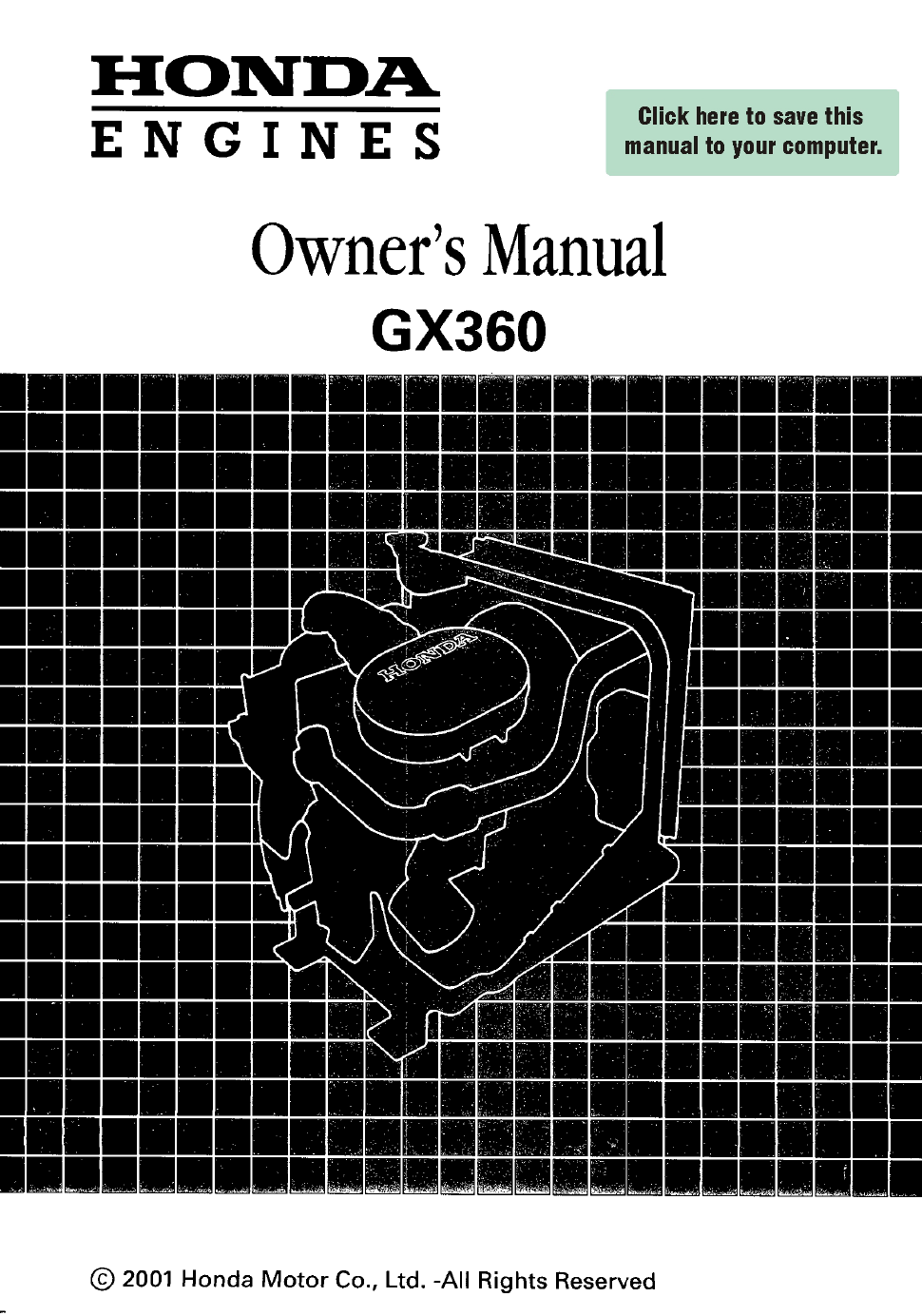 honda gx360 owner s manual free pdf download 68 pages rh manualagent com honda gx360 workshop manual