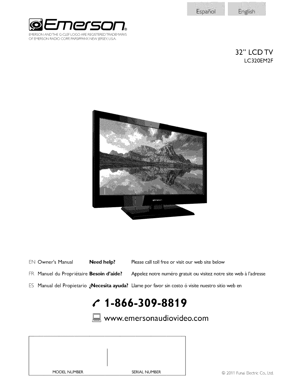 emerson lc320em2f owner s manual free pdf download 33 pages rh manualagent com Emerson LCD TV Ratings 50 Inch Emerson TV Manual