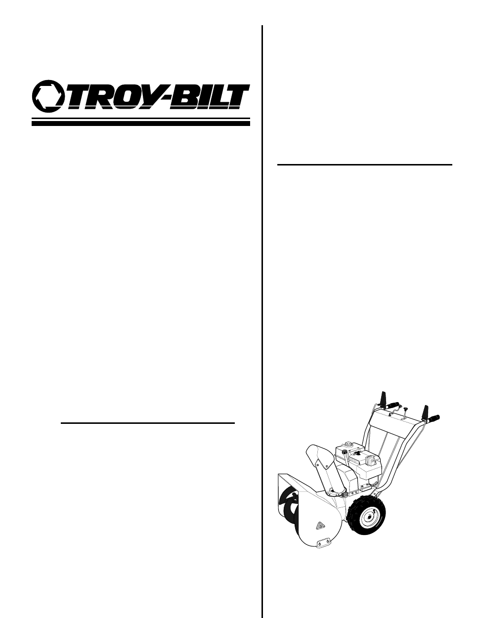 Free repair Manual Troy bilt cycle Trimmer