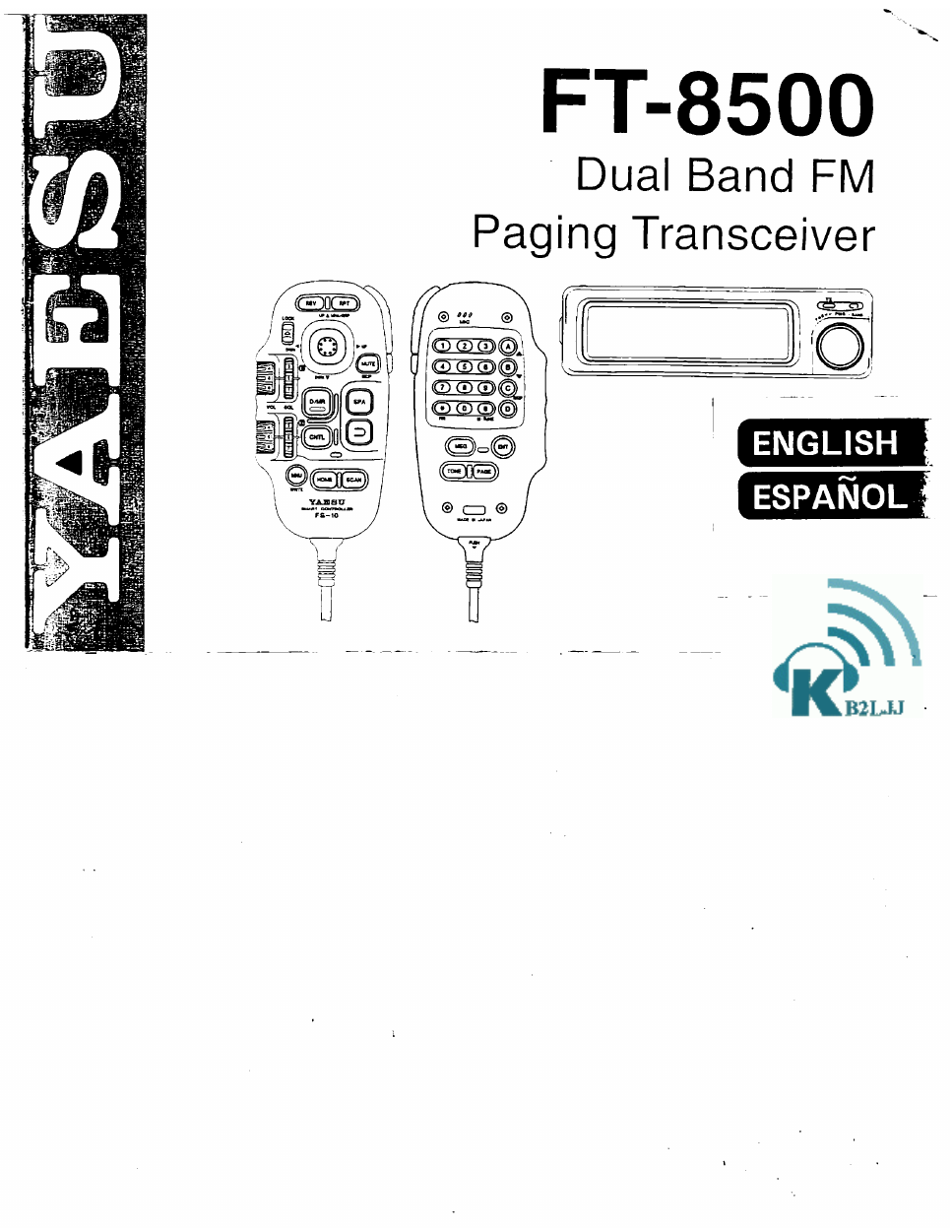 yaesu ft 8500 user s manual free pdf download 76 pages rh manualagent com Yaesu FT 8500 Green Wire yaesu ft-8500 service manual