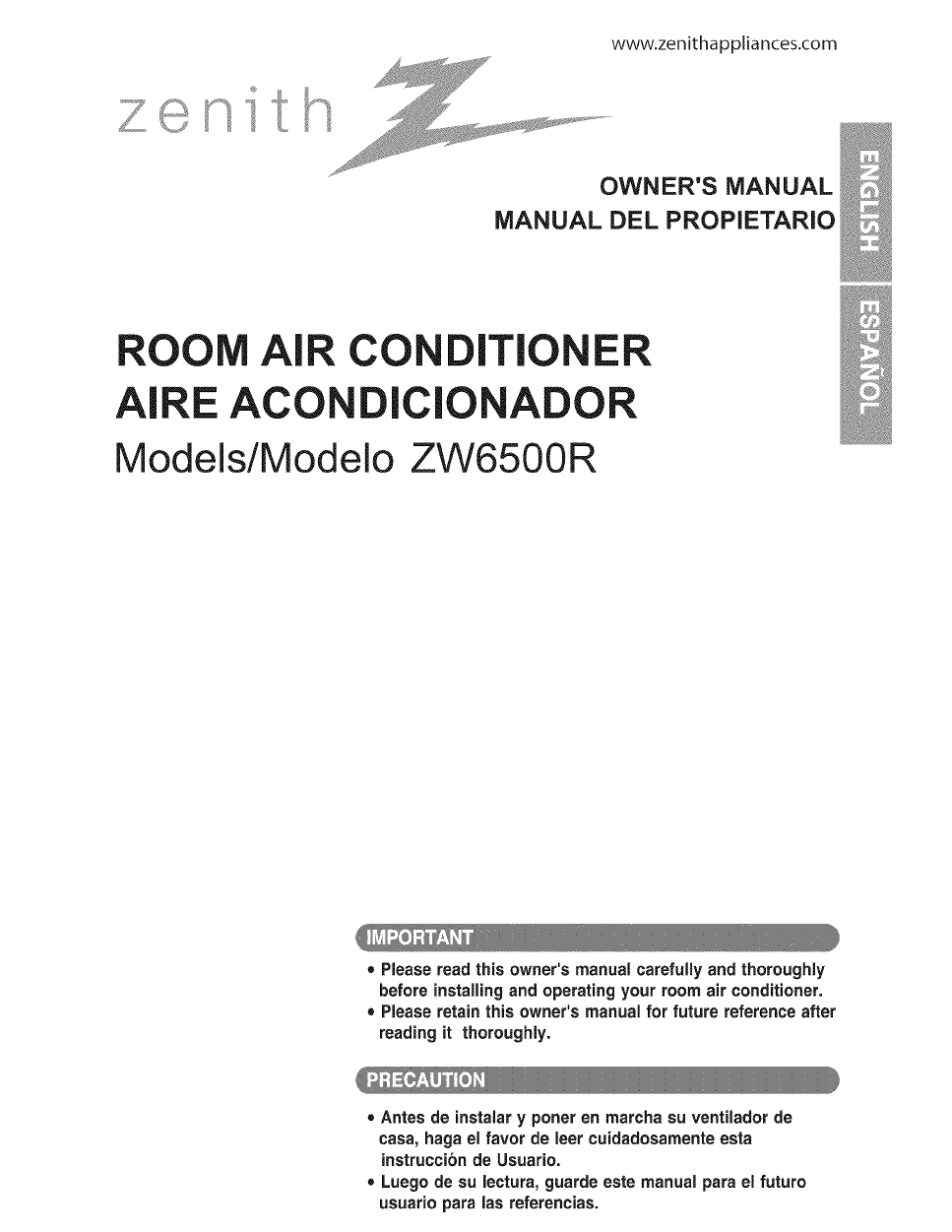 zenith zw6500r owner s manual free pdf download 47 pages rh manualagent com zenith air conditioner zw5000t8 manual Zenith Window Air Conditioner