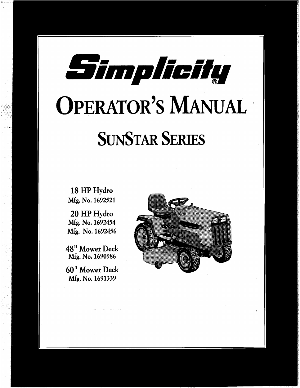 Wiring Diagram For Simplicity 9523 Page 6 And Tractor 1692593 Diagrams Source 1692521 Operator S Manual Free Pdf 36 Pages Rh Manualagent Com