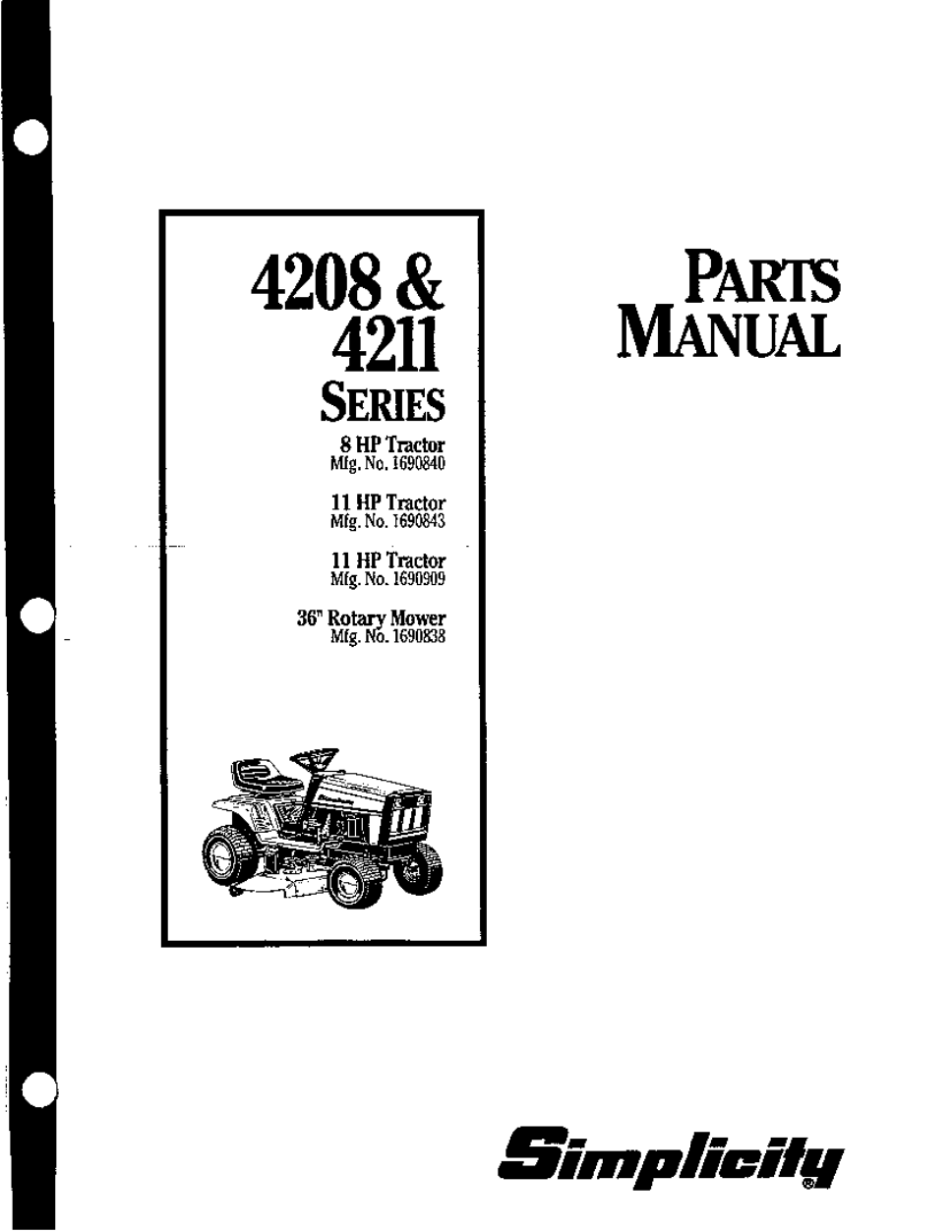 simplicity 4211 series parts manual free pdf download 46 pages rh manualagent com Simplicity Rear Engine Mower Simplicity Mower Deck Parts