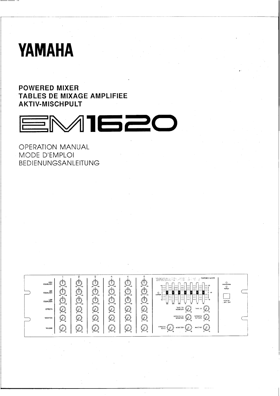 background image Array - yamaha em1620 operation manual free pdf download  48 pages rh manualagent com