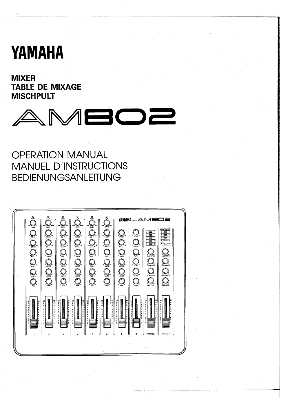 ... Array - yamaha am802 operation manual free pdf download 38 pages rh  manualagent com