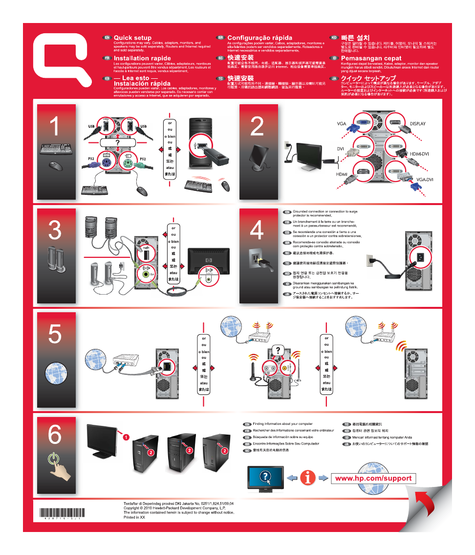 Hp Compaq Presario Cq5802 Desktop Pc Setup Poster Free Pdf Wiring Diagram Background Image