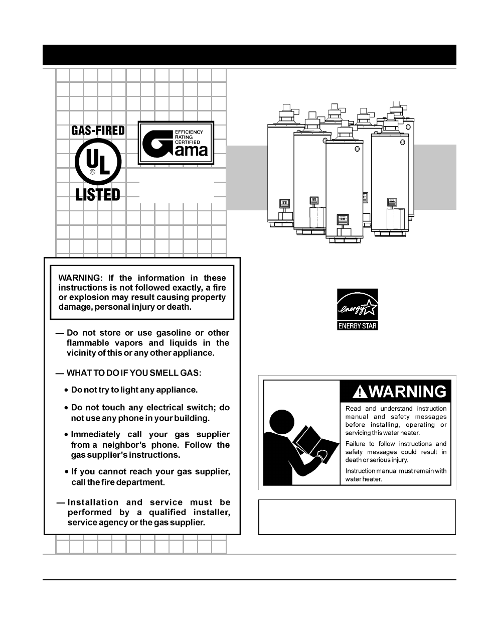 Ao Smith Promax Power Vent Gpvh 50 Instruction Manual Free Pdf Water Heater Wiring Diagram Background Image