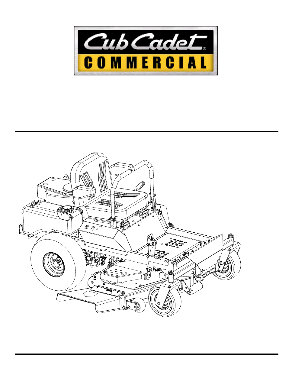 background image. Hydrostatic Zero-Turn. Commercial Riding Mower.  ProfessionalTurf Equipment. OPERATOR'S AND SERVICE MANUAL