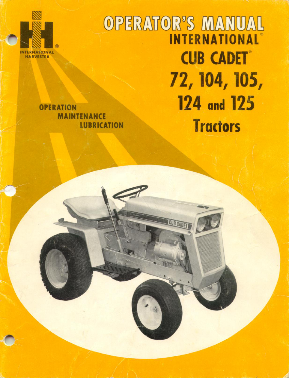 Cub Cadet Users Manual 1863 Tractor Wiring Diagram 124 User S Free Pdf Download 40 Pages Rh Manualagent Com Owners Xt1 Lt1042