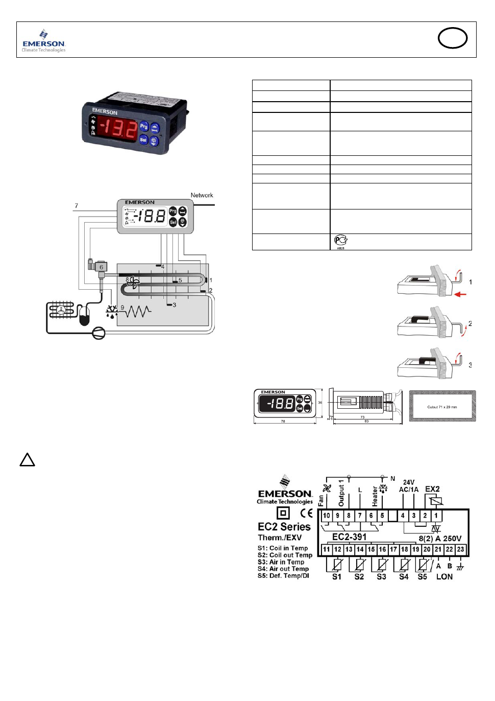 Cold Room Controller Wiring Diagram Worksheet And Fire Pump Emerson Display Case Ec2 391 User S Manual Rh Manualagent Com Heater With Control Baord Sterling Spp Pumps